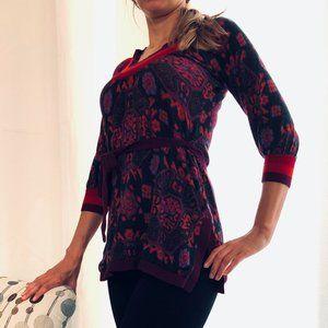 Free People Patterned Wool Blend Tunic Sweater XS